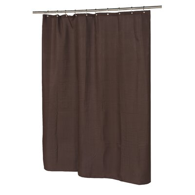 Waffle Weave Shower Curtain Color: Brown
