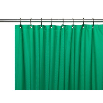 Hotel 8 Gauge Vinyl Shower Curtain Liner with Metal Grommets Color: Emerald