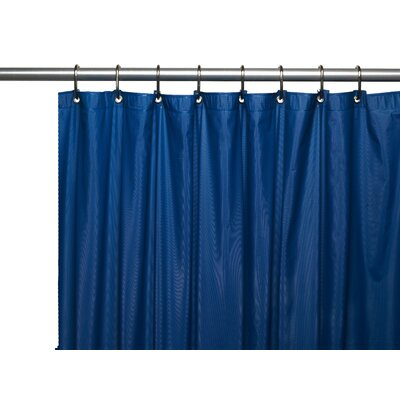 Vinyl 3 Gauge Shower Curtain Liner with Weighted Magnets and Metal Grommets Color: Navy