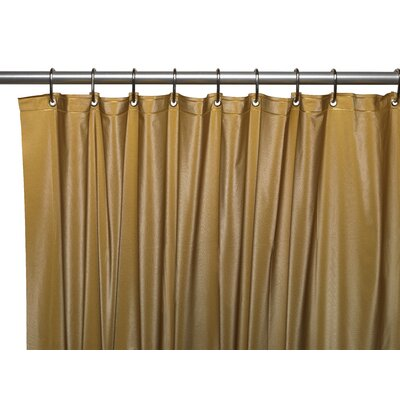 Vinyl 3 Gauge Shower Curtain Liner with Weighted Magnets and Metal Grommets Color: Gold