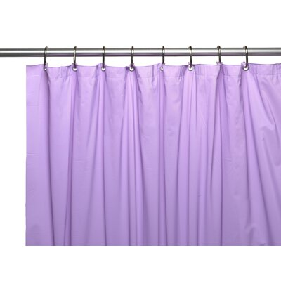 Premium 4 Gauge Vinyl Shower Curtain Liner with Weighted Magnets and Metal Grommets Color: Lilac