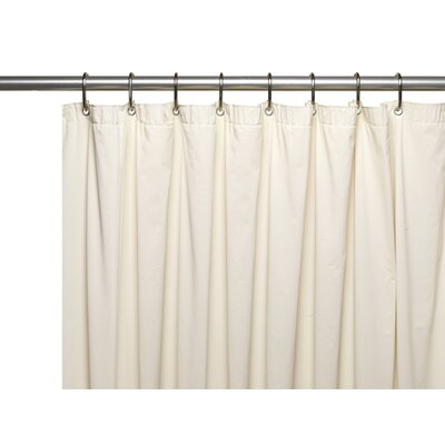 Premium 4 Gauge Vinyl Shower Curtain Liner with Weighted Magnets and Metal Grommets Color: Bone