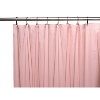 Premium 4 Gauge Vinyl Shower Curtain Liner with Weighted Magnets and Metal Grommets Color: Pink