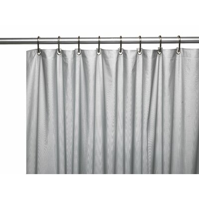 Vinyl 3 Gauge Shower Curtain Liner with Weighted Magnets and Metal Grommets Color: Silver