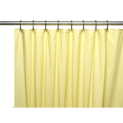 Premium 4 Gauge Vinyl Shower Curtain Liner with Weighted Magnets and Metal Grommets Color: Yellow