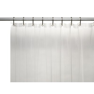 Vinyl 3 Gauge Shower Curtain Liner with Weighted Magnets and Metal Grommets Color: Super Clear