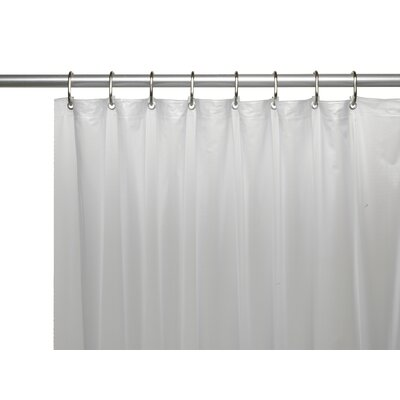 Vinyl 10 Gauge Shower Curtain Liner with Metal Grommets and Reinforced Mesh Header Color: Frosty Clear