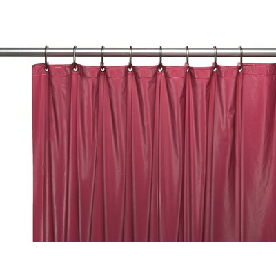 Vinyl 3 Gauge Shower Curtain Liner with Weighted Magnets and Metal Grommets Color: Burgundy