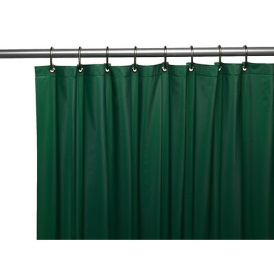Vinyl 3 Gauge Shower Curtain Liner with Weighted Magnets and Metal Grommets Color: Evergreen