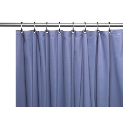 Vinyl 10 Gauge Shower Curtain Liner with Metal Grommets and Reinforced Mesh Header Color: Slate