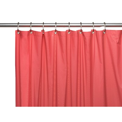 Vinyl 3 Gauge Shower Curtain Liner with Weighted Magnets and Metal Grommets Color: Rose