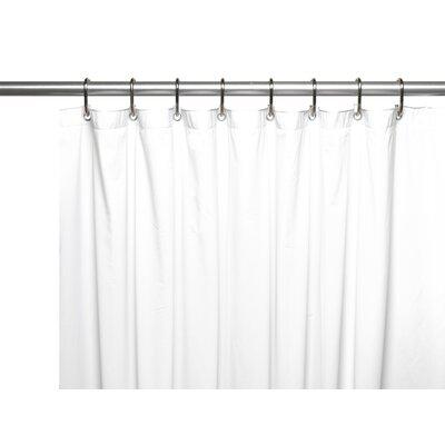 Hotel 8 Gauge Vinyl Shower Curtain Liner with Metal Grommets Color: White