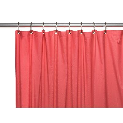 Premium 4 Gauge Vinyl Shower Curtain Liner with Weighted Magnets and Metal Grommets Color: Rose