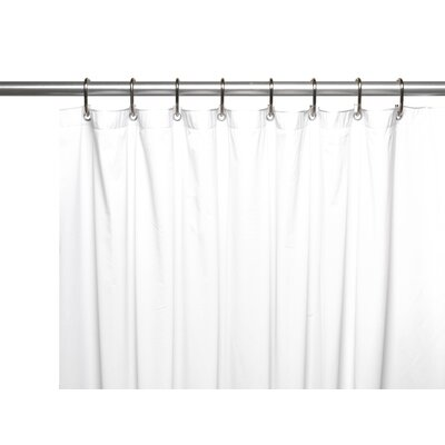 Vinyl 3 Gauge Shower Curtain Liner with Weighted Magnets and Metal Grommets Color: White