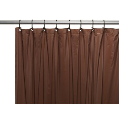 Hotel 8 Gauge Vinyl Shower Curtain Liner with Metal Grommets Color: Brown