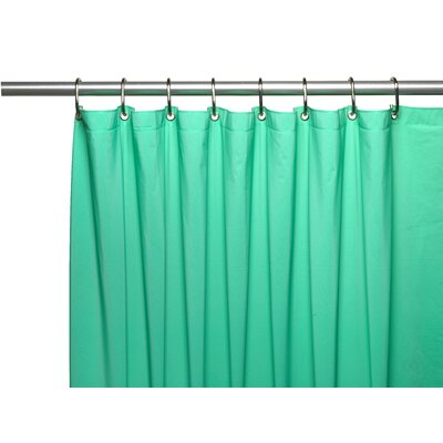 Vinyl 3 Gauge Shower Curtain Liner with Weighted Magnets and Metal Grommets Color: Jade