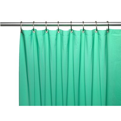 Hotel 8 Gauge Vinyl Shower Curtain Liner with Weighted Magnets and Metal Grommets Color: Jade