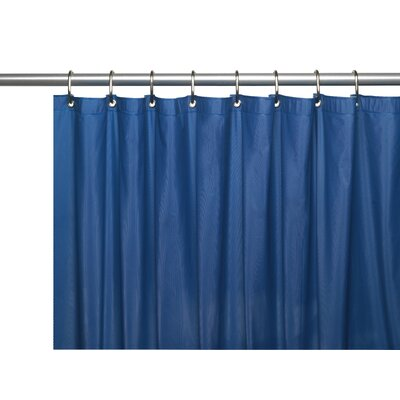 Hotel 8 Gauge Vinyl Shower Curtain Liner with Metal Grommets Color: Monaco Blue