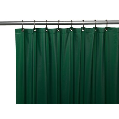 Premium 4 Gauge Vinyl Shower Curtain Liner with Weighted Magnets and Metal Grommets Color: Evergreen