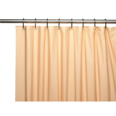 Premium 4 Gauge Vinyl Shower Curtain Liner with Weighted Magnets and Metal Grommets Color: Peach