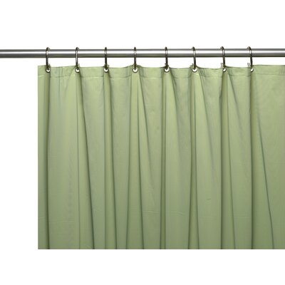 Vinyl 3 Gauge Shower Curtain Liner with Weighted Magnets and Metal Grommets Color: Sage