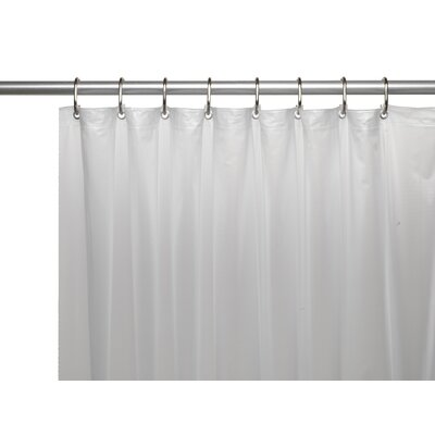Hotel 8 Gauge Vinyl Shower Curtain Liner with Metal Grommets Color: Frosty Clear