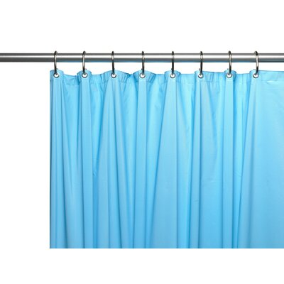 Hotel 8 Gauge Vinyl Shower Curtain Liner with Weighted Magnets and Metal Grommets Color: Light Blue