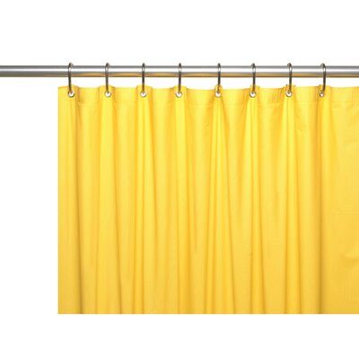 Hotel 8 Gauge Vinyl Shower Curtain Liner with Metal Grommets Color: Canary Yellow