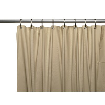 Vinyl 3 Gauge Shower Curtain Liner with Weighted Magnets and Metal Grommets Color: Linen