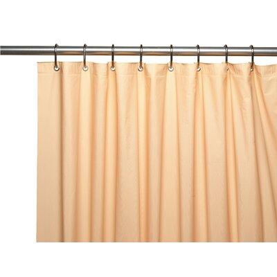 Hotel 8 Gauge Vinyl Shower Curtain Liner with Metal Grommets Color: Peach