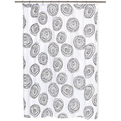 Lucerne Shower Curtain Color: Black/White