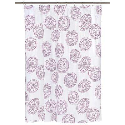 Lucerne Shower Curtain Color: Magenta/White