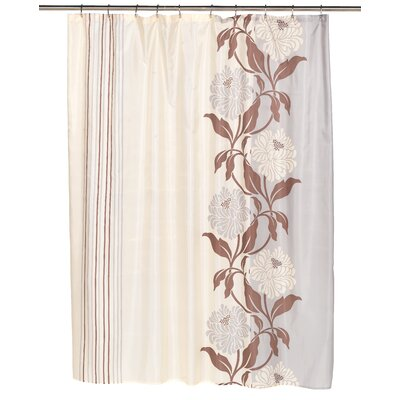 Chelsea Shower Curtain Color: Chocolate