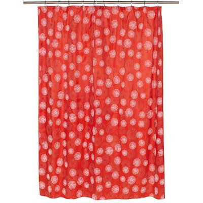 Vienna Shower Curtain Color: White/Red