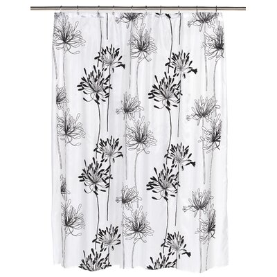 Cologne Shower Curtain Color: Black/White