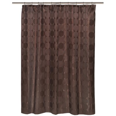 Jacquard Circles Shower Curtain Color: Brown