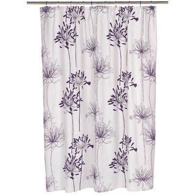 Cologne Shower Curtain Color: Indigo/White