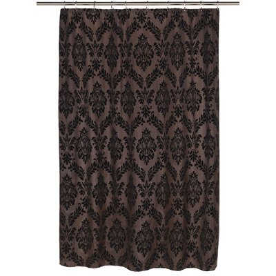 Regal Shower Curtain Color: Black/Brown
