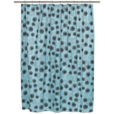Vienna Shower Curtain Color: Blue/Black