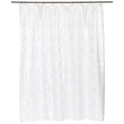 Jacquard Circles Shower Curtain Color: White