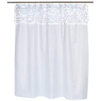Jasmine Shower Curtain Color: White