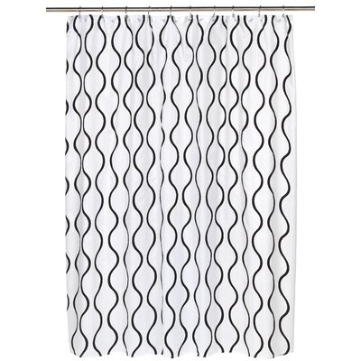 Geneva Shower Curtain Color: Black/White