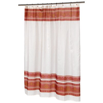 Fleur Shower Curtain Color: Burgundy