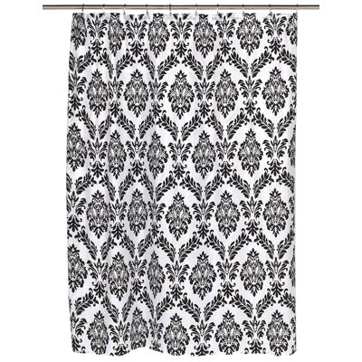 Regal Shower Curtain Color: Black/White