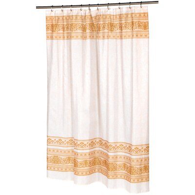 Fleur Shower Curtain Color: Gold