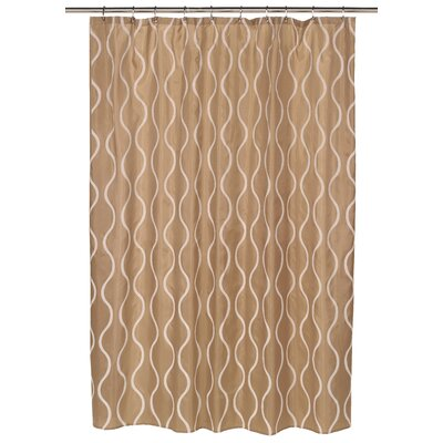 Geneva Shower Curtain Color: Ivory/Taupe