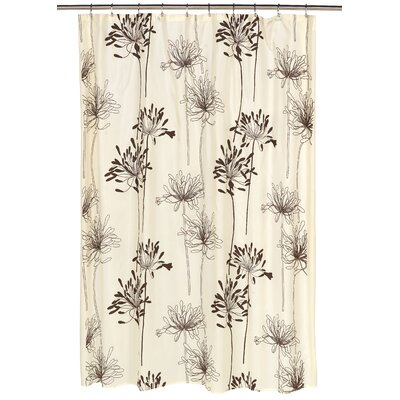 Cologne Shower Curtain Color: Brown/Ivory