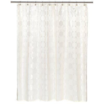 Jacquard Circles Shower Curtain Color: Ivory