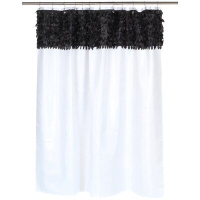 Jasmine Shower Curtain Color: Black/White