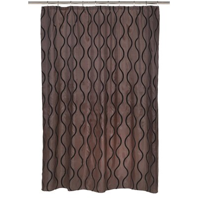 Geneva Shower Curtain Color: Black/Brown